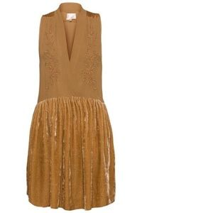 Aritzia le fou Wilfred Silk & Velvet Hana Dress